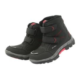 American Club American kozaki buty zimowe z membraną 3123 czarne czerwone 5