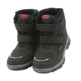 American Club American kozaki buty zimowe z membraną 3123 czarne czerwone 4