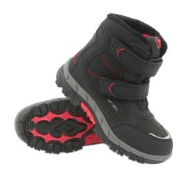 American Club American kozaki buty zimowe z membraną 3123 czarne czerwone 3