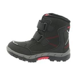 American Club American kozaki buty zimowe z membraną 3123 czarne czerwone 2