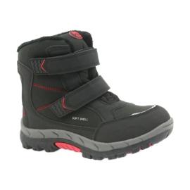 American Club American kozaki buty zimowe z membraną 3123 czarne czerwone 1