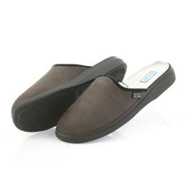 Befado buty męskie kapcie zdrowotne klapki 125m012 czarne brązowe 4