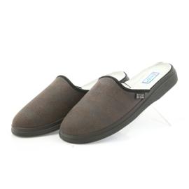 Befado buty męskie kapcie zdrowotne klapki 125m012 czarne brązowe 3