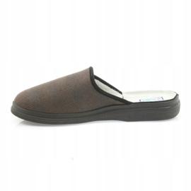 Befado buty męskie kapcie zdrowotne klapki 125m012 czarne brązowe 2