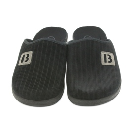 Befado buty męskie kapcie klapki 548m015 czarne 3