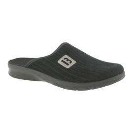 Befado buty męskie kapcie klapki 548m015 czarne 1