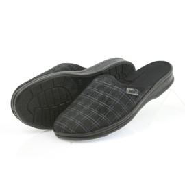 Befado buty męskie kapcie klapki 089M408 czarne 5