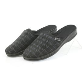 Befado buty męskie kapcie klapki 089M408 czarne 4