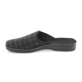 Befado buty męskie kapcie klapki 089M408 czarne 3