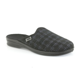 Befado buty męskie kapcie klapki 089M408 czarne 2