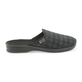 Befado buty męskie kapcie klapki 089M408 czarne 1