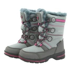 American Club American buty zimowe z membraną 702SB szare różowe 3