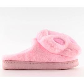 Kapcie damskie różowe DD93 Pink 1