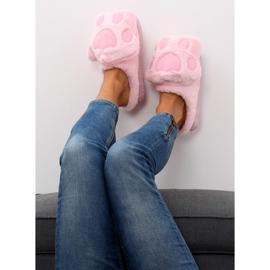 Kapcie damskie różowe DD93 Pink 4