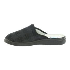 Befado obuwie męskie125m klapki kapcie zdrowotne czarne szare 2