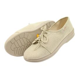 Befado buty męskie półbuty pu 630M007 beżowy 4