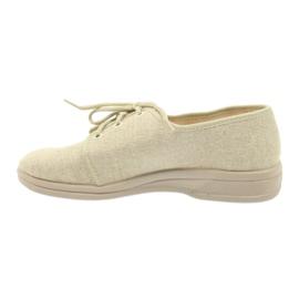 Befado buty męskie półbuty pu 630M007 beżowy 2