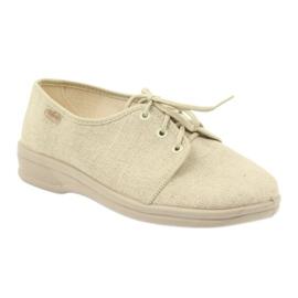 Befado buty męskie półbuty pu 630M007 beżowy 1