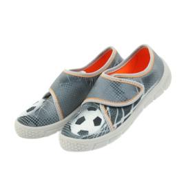 Befado buty dziecięce kapcie trampki 557X038 czarne pomarańczowe szare 4