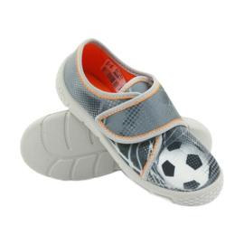 Befado buty dziecięce kapcie trampki 557X038 czarne pomarańczowe szare 3