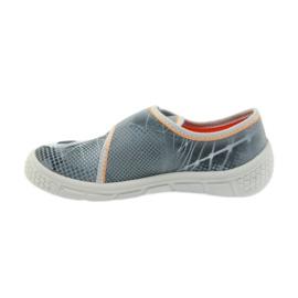 Befado buty dziecięce kapcie trampki 557X038 czarne pomarańczowe szare 2