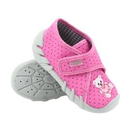 Befado buty dziecięce kapcie 112P185 różowe 4