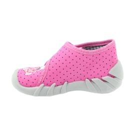 Befado buty dziecięce kapcie 112P185 różowe 3