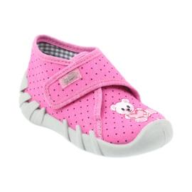 Befado buty dziecięce kapcie 112P185 różowe 2