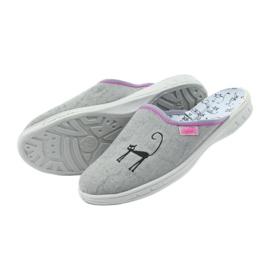 Befado buty dziecięce kapcie klapki 707Y398 szare 5