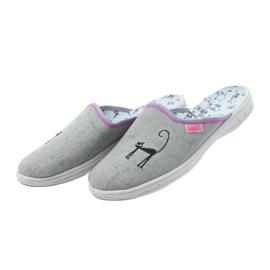 Befado buty dziecięce kapcie klapki 707Y398 szare 4