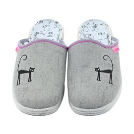 Befado buty dziecięce kapcie klapki 707Y398 szare 3