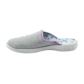 Befado buty dziecięce kapcie klapki 707Y398 szare 2