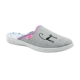 Befado buty dziecięce kapcie klapki 707Y398 szare 1