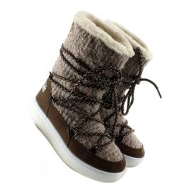 Dziecięce śniegowce eskimoski k1646102 Taupe brązowe 3