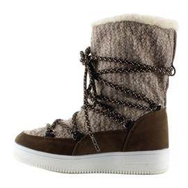 Dziecięce śniegowce eskimoski k1646102 Taupe brązowe 1