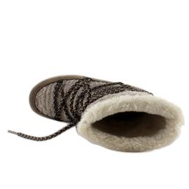Dziecięce śniegowce eskimoski k1646102 Taupe brązowe 5