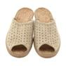 Befado obuwie damskie kapcie klapki 581d169 brązowe 4
