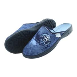 Befado buty dziecięce klapki kapcie 707Y396 granatowe niebieskie 4