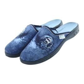 Befado buty dziecięce klapki kapcie 707Y396 granatowe niebieskie 3