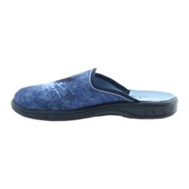 Befado buty dziecięce klapki kapcie 707Y396 granatowe niebieskie 2