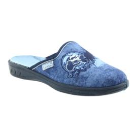 Befado buty dziecięce klapki kapcie 707Y396 granatowe niebieskie 1