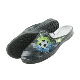 Befado buty dziecięce kapcie klapki 707Y395 niebieskie szare zielone 5