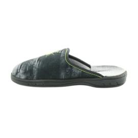 Befado buty dziecięce kapcie klapki 707Y395 niebieskie szare zielone 2