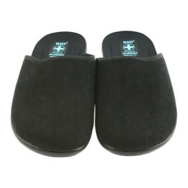 Kapcie klapki sztruks Adanex 21115 czarne 2