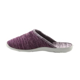 Befado buty damskie kapcie 235d152 fioletowe 2