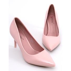 Czółenka na szpilce różowe LE011P-ST Pink 1