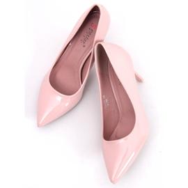 Czółenka na szpilce różowe LE011P-ST Pink 2