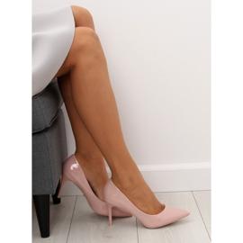 Czółenka na szpilce różowe LE011P-ST Pink 4