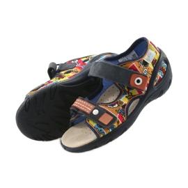 Befado obuwie dziecięce sandałki 065P117 wielokolorowe 4