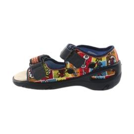 Befado obuwie dziecięce sandałki 065P117 wielokolorowe 2